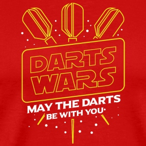DARTS WARS - MAY THE DARTS BE WITH YOU - Männer Premium T-Shirt