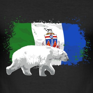 Yukon Flag - Polar Bear - Eisbär T-Shirts - Männer Slim Fit T-Shirt
