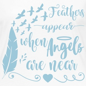 Feathers appear when angels are near Langarmshirts - Frauen Premium Langarmshirt