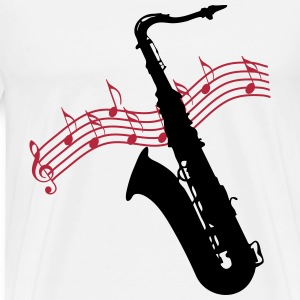 Saxophone / Jazz / Music T-Shirts - Men's Premium T-Shirt