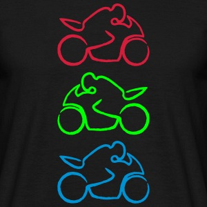 motorcycle 3c rough T-Shirts - Men's T-Shirt