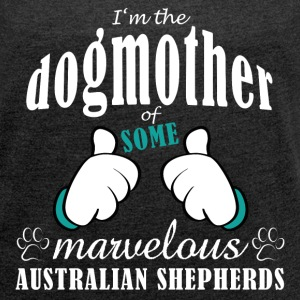 Dogmother, some Aussies T-shirts - Dame T-shirt med rulleærmer