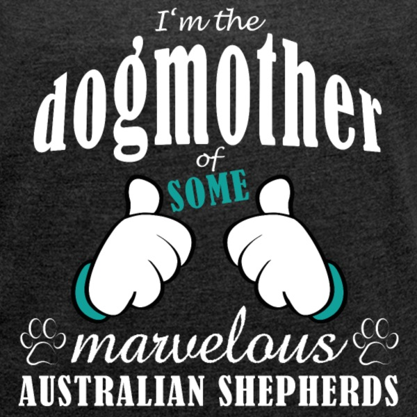 Dogmother, some Aussies T-shirts - T-shirt med upprullade ärmar dam