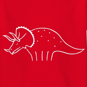 Rot Triceratops Mann Kinder T-Shirts - Teenager T-Shirt