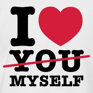 Weiß/navy i love myself T-Shirts - Männer Baseball-T-Shirt