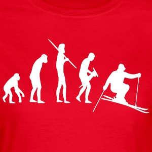 Skiing Evolution - Frauen T-Shirt