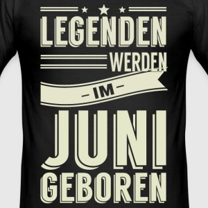 Juni T-Shirts - Männer Slim Fit T-Shirt