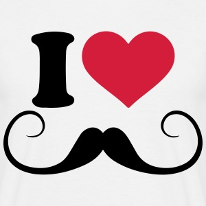 I love mustache t-shirt - Men's T-Shirt