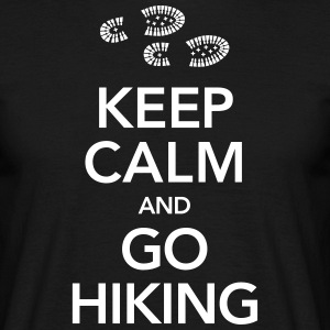 Keep Calm And Go Hiking | Hiking Boots T-shirts - T-shirt herr
