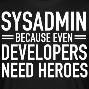 Geek | Sysadmin Hero T-shirts - Herre-T-shirt