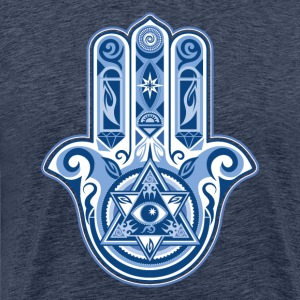 Hamsa Hand Of Fatima, symbol, eye, triangle T-shirts - Herre premium T-shirt