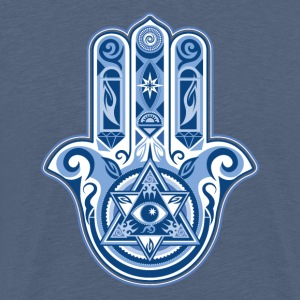 Hamsa Hand Of Fatima, symbol, eye, triangle T-shirts - Mannen Premium T-shirt