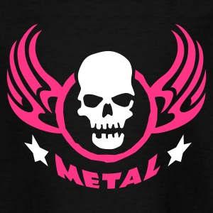 Schwarz metal_wing_skull_2c Kinder T-Shirts - Teenager T-Shirt