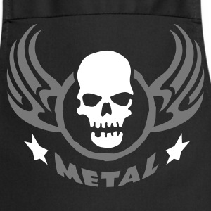 metal_wing_skull_2c  Aprons - Cooking Apron