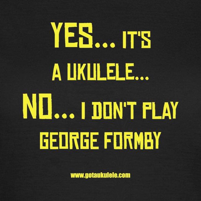 Ladies Got A Ukulele Formby shirt