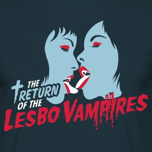 Navy return of the lesbo vampires T-Shirts - Männer T-Shirt