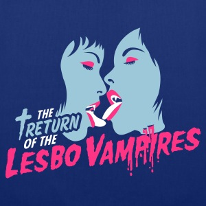 Kongeblå return of the lesbo vampires Vesker - Stoffveske