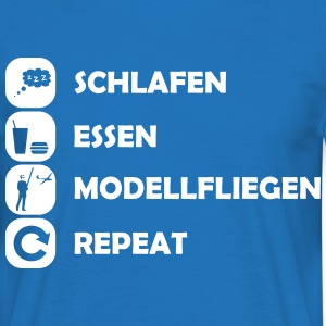 eat sleep modellfliegen repeat T-Shirts - Männer T-Shirt