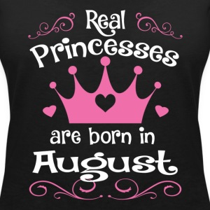 August - Princess - Birthday - 1 T-shirts - T-shirt med v-ringning dam