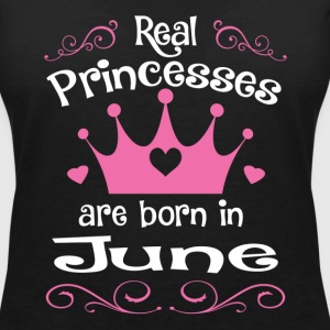 June - Princess - Birthday - 1 T-shirts - Vrouwen T-shirt met V-hals