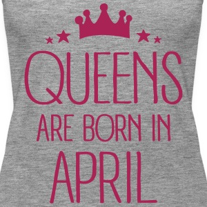 Queens Are Born In April Débardeurs - Débardeur Premium Femme