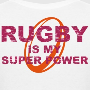 rugby is my superpower eng T-Shirts - Women's V-Neck T-Shirt