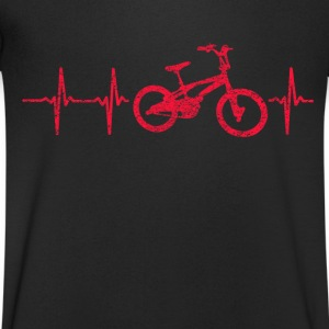 MY HEART BEATS FÜRS BIKE! T-Shirts - Men's V-Neck T-Shirt
