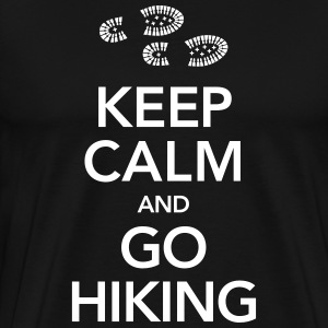 Keep Calm And Go Hiking | Hiking Boots T-skjorter - Premium T-skjorte for menn