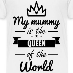 Mummy queen, mom, mama, gift ,Mutter - Kinder Premium T-Shirt