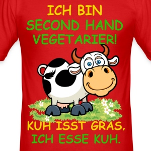 Second Hand Vegetarier T-Shirts - Männer Slim Fit T-Shirt