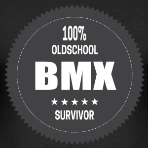 100% Old School BMX Survivor T-Shirts - Männer Slim Fit T-Shirt