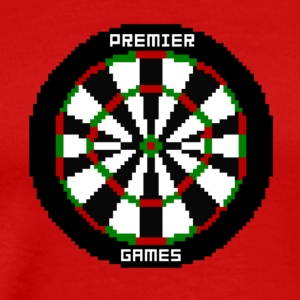 premier games pixelated dartboard - Männer Premium T-Shirt