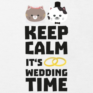wedding time keep calm Sitj0 Skjorter - Økologisk T-skjorte for barn