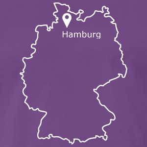 place to be: Hamburg - Männer Premium T-Shirt