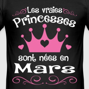 Mars - Princess - Anniversaire - 2 T-shirts - slim fit T-shirt