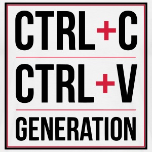 Ctrl+C, Ctrl+V Generation Joke Design T-Shirts - Men's T-Shirt