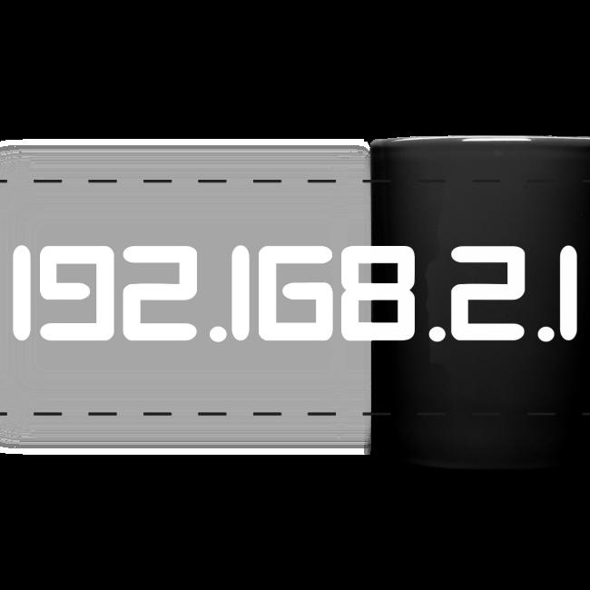"""Tasse mit Aufdruck """"192.168.2.1"""""""