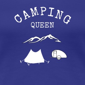 Camping Queen  T-Shirts - Frauen Premium T-Shirt
