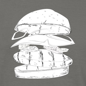 Burger flying SKETCH - Männer T-Shirt