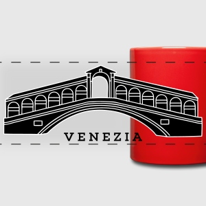 Rialto Bridge Venice 2 Mugs & Drinkware - Full Color Panoramic Mug