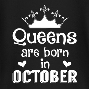 October - Queen - Birthday - 1 Baby Long Sleeve Shirts - Baby Long Sleeve T-Shirt