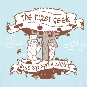 The first geek (brown) - T-shirt Homme
