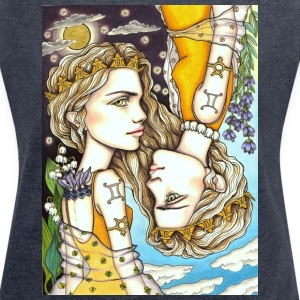 Gemini Girl Zwillings T-Shirts - Women's T-shirt with rolled up sleeves