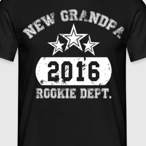 new grandpa 2016 rookie dept T-Shirts - Men's T-Shirt