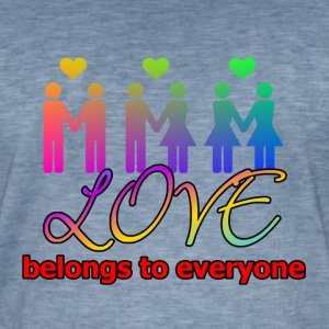 Love belongs to everyone - Männer Vintage T-Shirt
