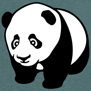 Panda cub profile T-Shirts - Men's V-Neck T-Shirt