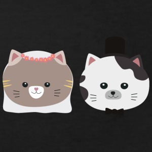 Cat wedding couple Sn557 Shirts - Kids' Organic T-shirt