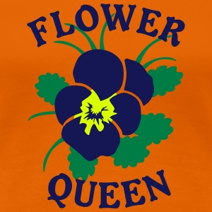 Flower Queen Logo Blossom Flower T-Shirts - Frauen Premium T-Shirt
