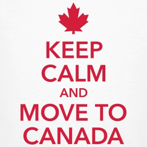 keep calm and move to Canada Maple Leaf Kanada - Männer Bio-T-Shirt