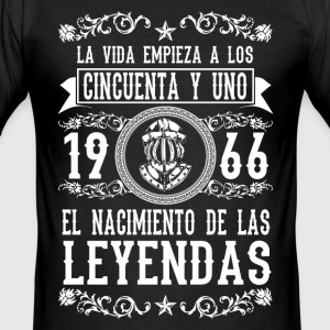 1966 - 51 años - Leyendas - 2017 T-Shirts - Men's Slim Fit T-Shirt